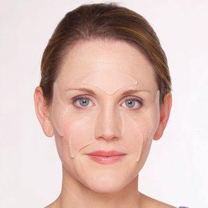 applicazione del facial pad multy area