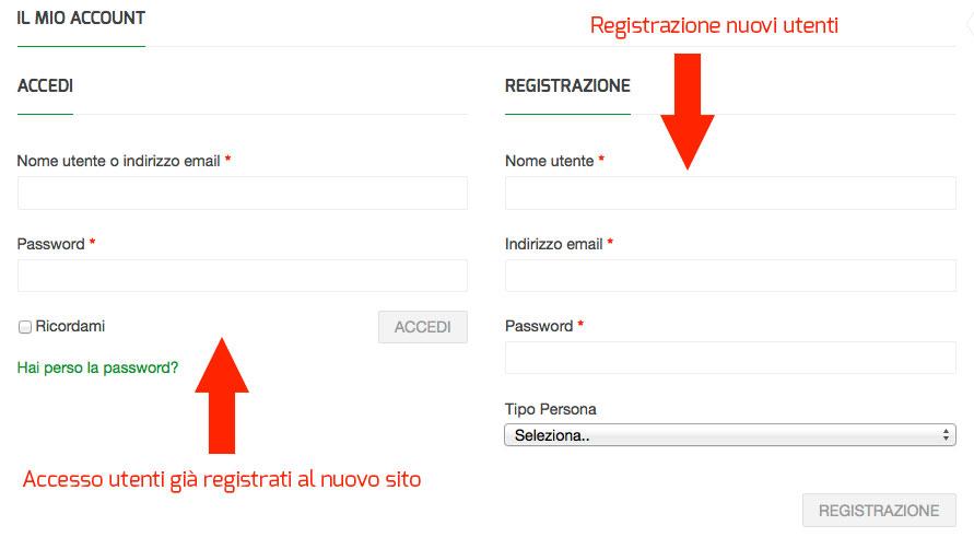 Accesso e Registrazione al sito HERBAPHARMA